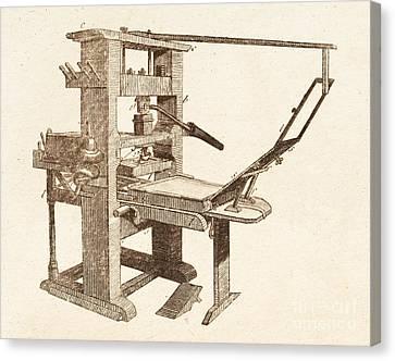 Printing Press Canvas Print by David Parker