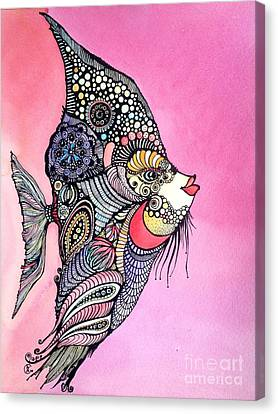 Priscilla The Fish Canvas Print by Iya Carson