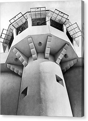 Prison Guard Tower Canvas Print by Underwood Archives