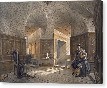 Prison Of King Erik Xiv, Son Of Gustav Canvas Print by Karl Johann Billmark