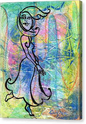 Private Dancer Canvas Print by Genevieve Esson
