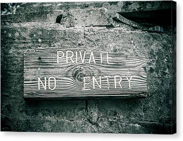 Private No Entry Canvas Print by Mair Hunt