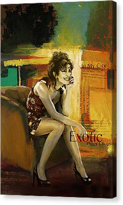 Priyanka Chopra Canvas Print by Corporate Art Task Force