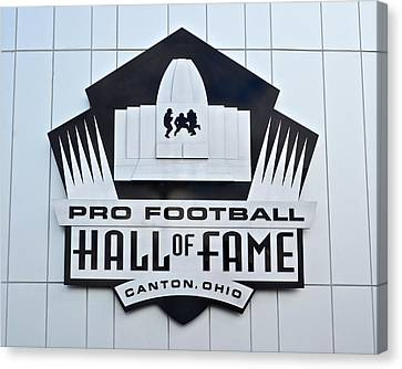 Pro Football Hall Of Fame Canvas Print by Frozen in Time Fine Art Photography