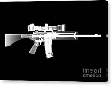 Pro Ordnance Carbon Ar15 Canvas Print by Ray Gunz