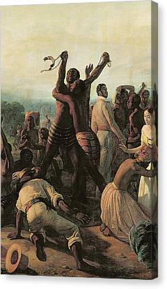 Proclamation Of The Abolition Of Slavery In The French Colonies, 23rd April 1848 Canvas Print by Francois Auguste Biard