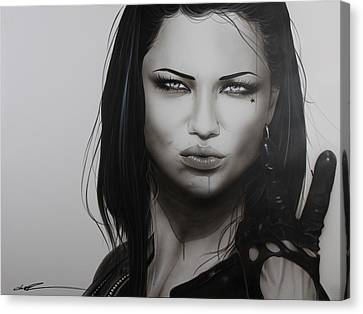 'profanity' Canvas Print by Christian Chapman Art