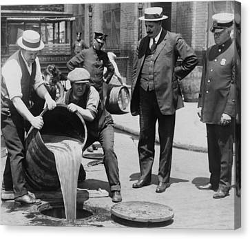 Prohibition In The Usa Canvas Print by Unknown