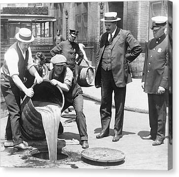 Prohibition Raid, 1920s New York Canvas Print by Science Photo Library