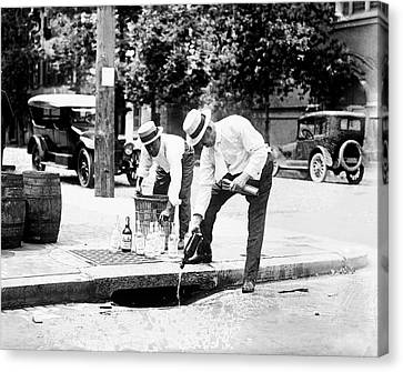 Prohibition Raid Canvas Print by Library Of Congress