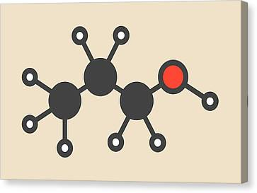 Propanol Solvent Molecule Canvas Print by Molekuul