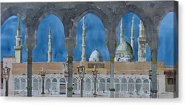 Prophet's Mosque Medina Canvas Print by Martin Giesen