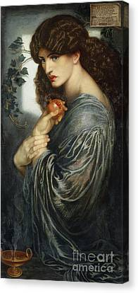 Proserpine Canvas Print by Dante Charles Gabriel Rossetti