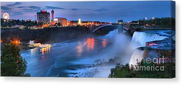 Prospect Point Panorama At Niagara Falls Canvas Print by Adam Jewell