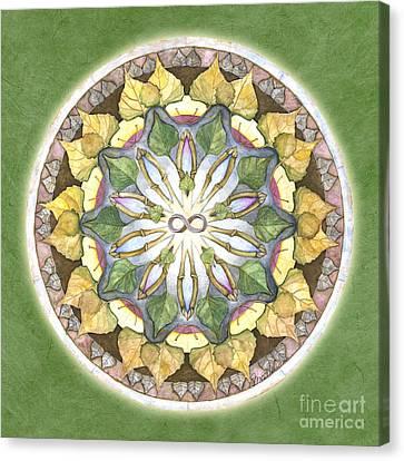 Prosperity Mandala Canvas Print by Jo Thomas Blaine