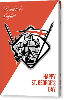 Proud To Be English Happy St George Greeting Card Canvas Print by Aloysius Patrimonio
