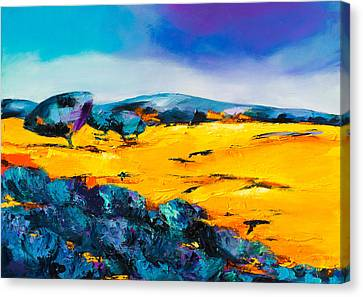 Provencal Countryside Canvas Print by Elise Palmigiani