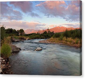 Provo River Sunrise Canvas Print by Johnny Adolphson
