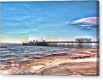 Ps Waverley At Penarth Pier 2 Canvas Print by Steve Purnell