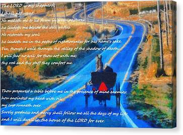 Psalm 23 Country Roads Canvas Print by Dan Sproul