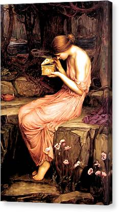 Psyche Opening The Golden Box 1903 Canvas Print by Philip Ralley