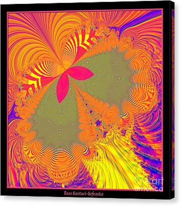 Psychedelic Butterfly Explosion Fractal 61 Canvas Print by Rose Santuci-Sofranko