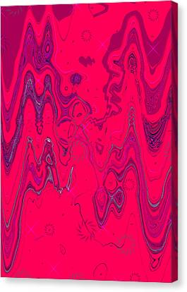 Psychedelic Canvas Print by DigiArt Diaries by Vicky B Fuller