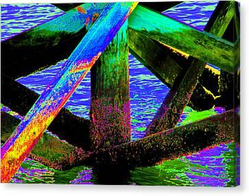 Psychedelic Dock Canvas Print by Bob Slitzan