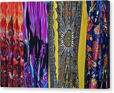 Psychedelic Dresses Canvas Print by Frozen in Time Fine Art Photography