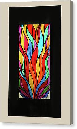 Psychedelic Flames Canvas Print by Rick Roth