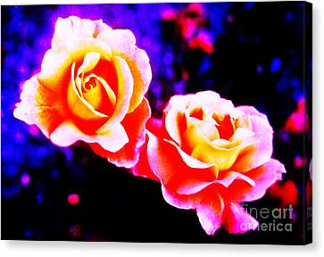 Psychedelic Roses Canvas Print by Martin Howard