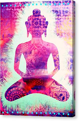 Psychedelic Samadhi Canvas Print by Cat Athena Louise