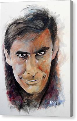 Psycho - Anthony Perkins Canvas Print by William Walts