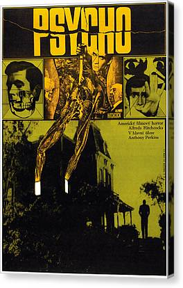 Psycho, L-r Anthony Perkins, Alfred Canvas Print by Everett