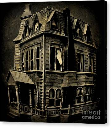 Psycho Mansion Canvas Print by John Malone