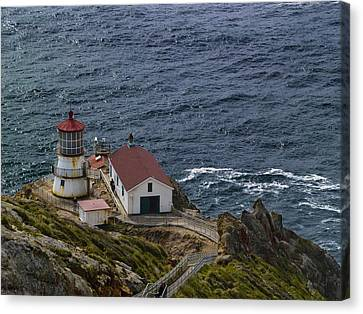 Pt Reyes Lighthouse Canvas Print by Bill Gallagher