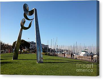 Public Sculpture At The San Francisco Pier 39 5d26149 Canvas Print by Wingsdomain Art and Photography