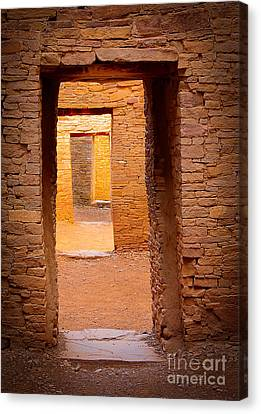 Pueblo Doorways Canvas Print by Inge Johnsson