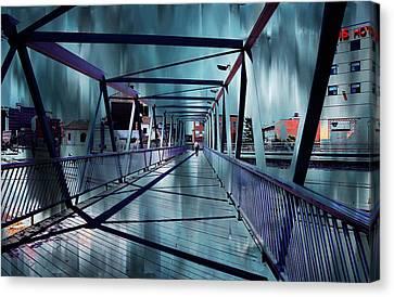 Puente De La Trinidad 1. Malaga Bridges. Spain Canvas Print by Jenny Rainbow