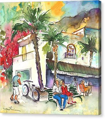 Puerto Mogan 07 Canvas Print by Miki De Goodaboom