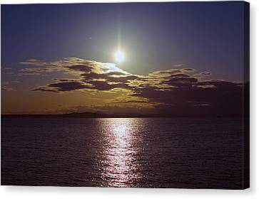 Puget Sound Shimmer Canvas Print by Michael DeMello
