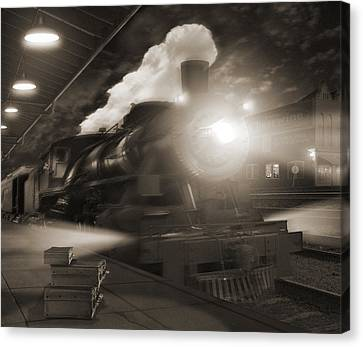 Pulling Out 2 Canvas Print by Mike McGlothlen