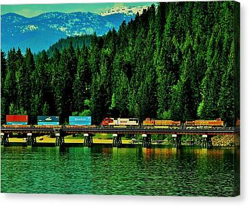 Pulling Through Sandpoint Canvas Print by Benjamin Yeager