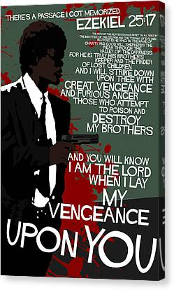 Pulp Fiction Movie-quote-with-a-gun Canvas Print by Edgar Ascensao