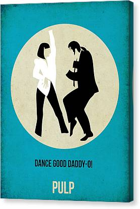Pulp Fiction Poster 2 Canvas Print by Naxart Studio