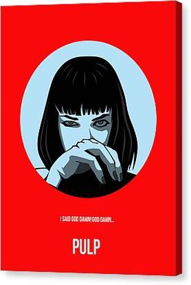 Pulp Fiction Poster 3 Canvas Print by Naxart Studio