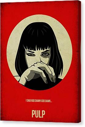 Pulp Fiction Poster Canvas Print by Naxart Studio
