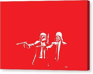 Pulp Wars Canvas Print by Patrick Charbonneau