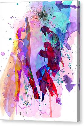 Pulp Watercolor Canvas Print by Naxart Studio