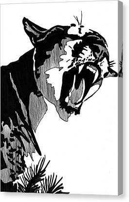Puma 5x7 Card Canvas Print by Matthew Howard